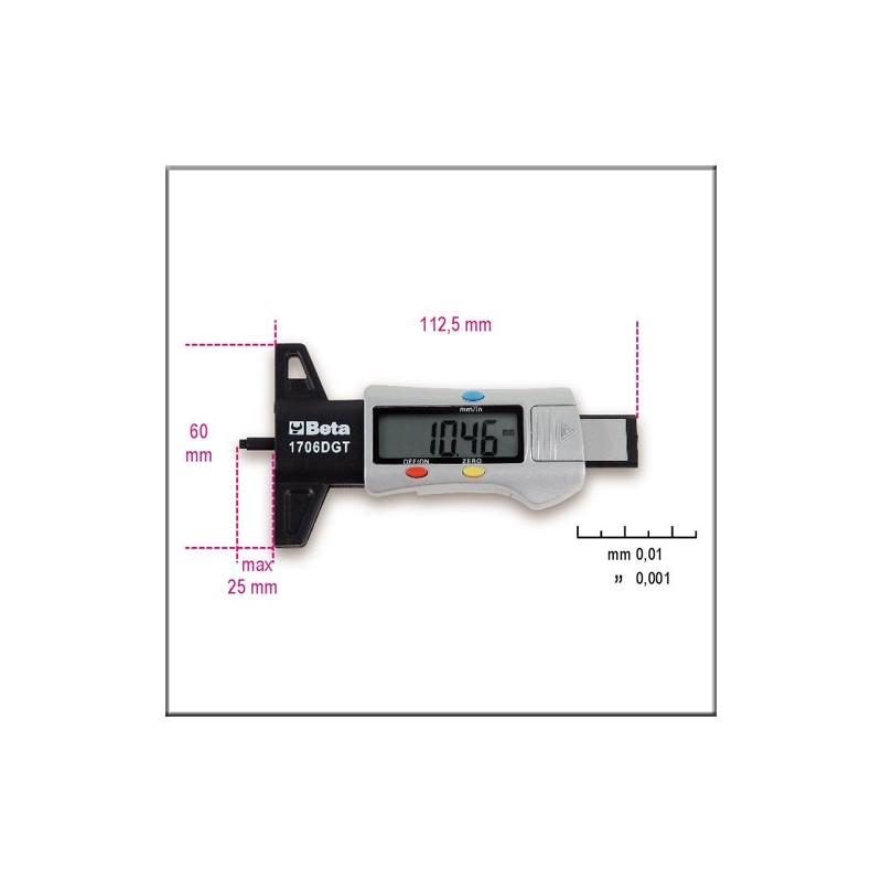 Beta 1706DGT - Глубиномер протектора автопокрышек цифровой